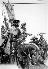 The Battle of Fornovo art by Peter Jackson