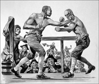 Bare Knuckle Boxing Match art by Peter Jackson