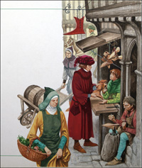 A Boot Maker of the Middle Ages art by Peter Jackson
