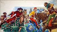 Death of Wat Tyler art by Peter Jackson