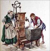A Tudor Kitchen Water Pump art by Peter Jackson