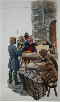 Compiling the Domesday Book art by Peter Jackson