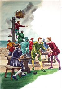 The Spanish Armada art by Peter Jackson