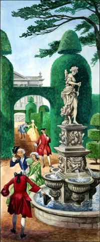 Regency Garden art by Peter Jackson
