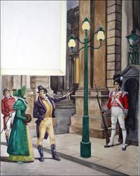 Gas Lights in London art by Peter Jackson