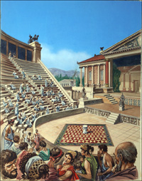Greek Theatre art by Peter Jackson