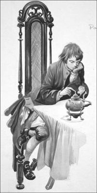 Young James Watt art by Peter Jackson