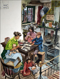 Family Poverty in Victorian Britain art by Peter Jackson