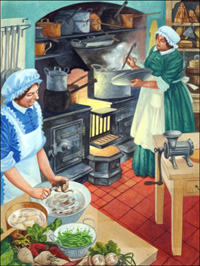 A Busy Kitchen art by Peter Jackson