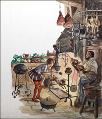 A Tudor Kitchen art by Peter Jackson