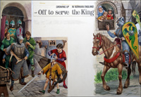 Growing Up in Norman England: Off to Serve the King art by Peter Jackson