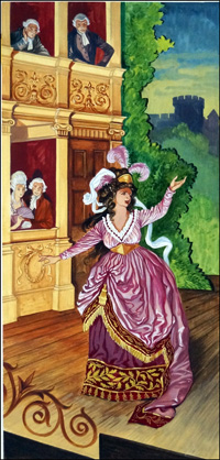 Sarah Siddons The Queen of Tragedy art by Peter Jackson