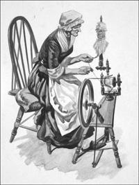 Spinning Wheel art by Peter Jackson