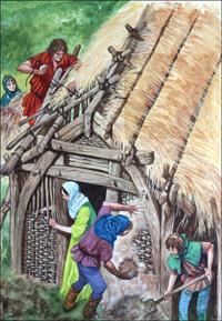 Building a Saxon Home art by Peter Jackson