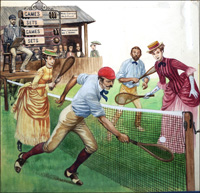 Anyone For Tennis? art by Peter Jackson