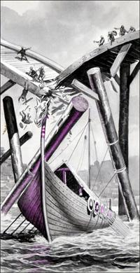 Vikings in London art by Peter Jackson