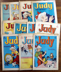 Collection of 17 Judy comics 1964