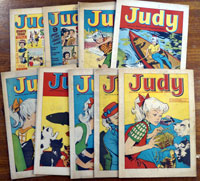 Collection of 9 Judy comics 1965