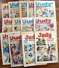 Collection of 26 Judy comics (5 from 1968 and 21 from 1970)