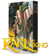 Karl the Viking The Collection (deluxe 4 volume set) by Don Lawrence, introduced by Steve Holland