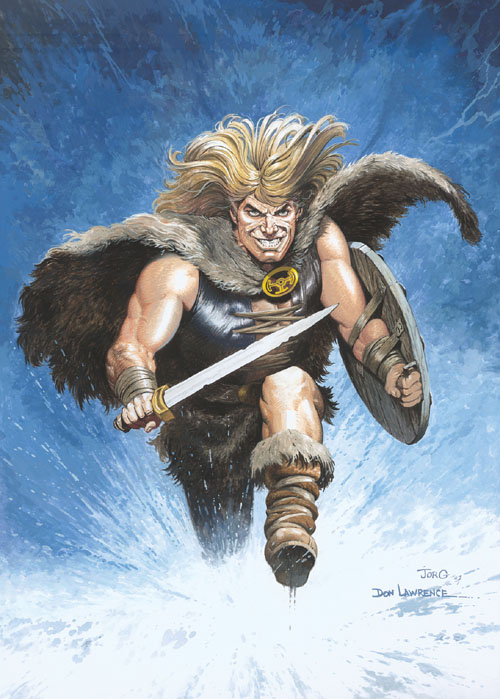 Karl The Viking numbered print signed by Jorg de Vos included. (click for bigger picture)