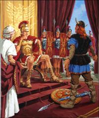 Caesars Triumph in Gaul art by Jack Keay