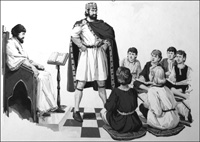 Emperor Charlemagne The Teacher art by Jack Keay