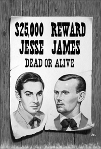 Jesse James art by John Keay