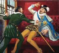 Death of a King art by Jack Keay