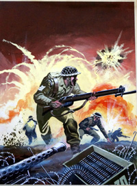 War Picture Library issue 324 cover art art by B Knight