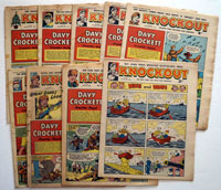 A Collection of 9 Knockout comics 1959