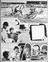 Number 13 Marvel Street - Speedway (TWO pages) art by Bill Lacey