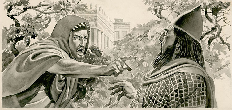 Elijah Denouncing King Ahab (Original) by Don Lawrence at The Illustration Art Gallery