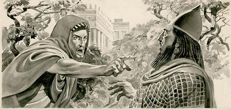 Elijah Denouncing King Ahab (Original) by Don Lawrence at The Illustration Art Gallery