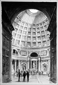 The Pantheon - Rome art by Frank Marsden Lea