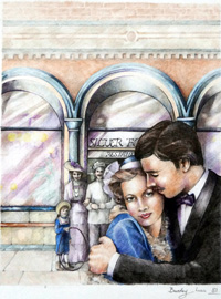 The Silver Fountain book cover art art by Beverley Lees