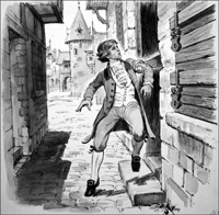 Caught Up in the French Revolution art by Barrie Linklater