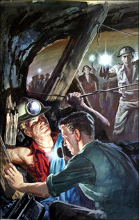 Trapped in the Mine art by Barrie Linklater