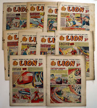 Collection of 10 Lion comics 1953