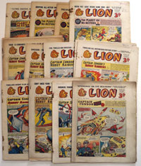 Collection of 15 Lion comics 1954