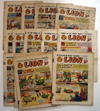 Collection of 15 Lion comics 1955/56/57
