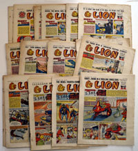 Collection of 20 Lion comics 1957