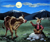 Brer Rabbit and the Cow art by Virginio Livraghi
