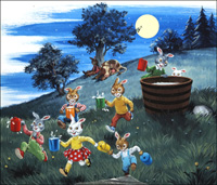 Brer Rabbit and the Milk Cow Blues art by Virginio Livraghi