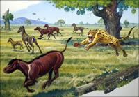 Hunter and Hunted art by Bernard Long