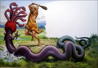 The Second Labour of Hercules art by Bernard Long