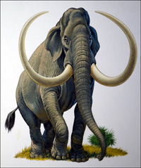 Imperial Mammoth art by Bernard Long