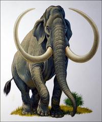 Imperial Mammoth art by Bernard Long