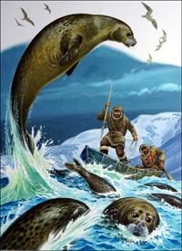 Seal Hunters art by Bernard Long
