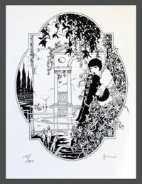 Louise Brooks (Lulu) art by Milo Manara
